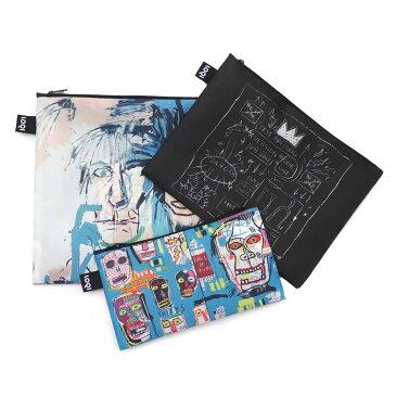 ジャン ミシェル バスキア Jean-Michel Basquiat x ローキー LOQI Zip Pouch Set ポーチ バッグ 3個セット MULTI マルチ メンズ レディース
