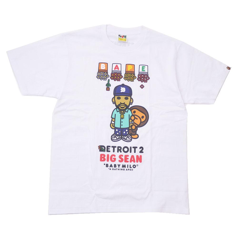 トップス, Tシャツ・カットソー  BIG SEAN x A BATHING APE DETROIT 2 BABY MILO TEE T WHITE