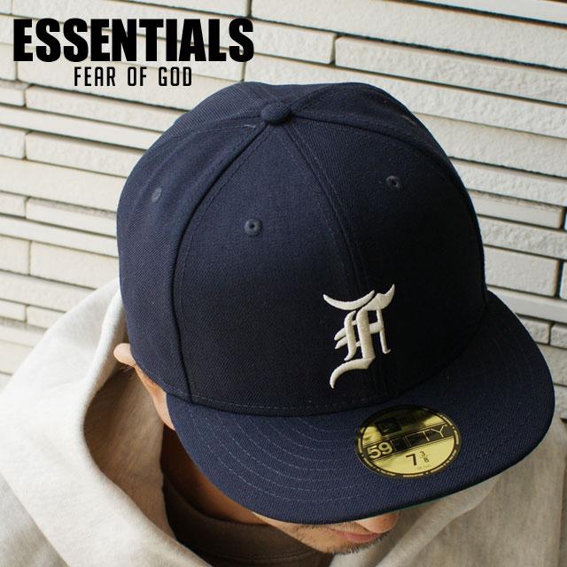 メンズ帽子, キャップ  ESSENTIALS x NEW ERA 59FIFTY FITTED CAP NAVY FEAR OF GOD FOG