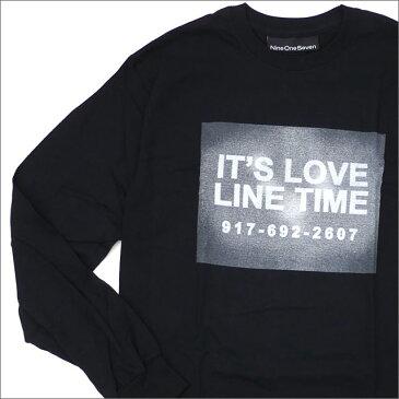 【期間限定特別価格!!】 917 ナインワンセブン Nine One Seven Love Line Long Sleeve TShirt 長袖Tシャツ BLACK 202000933131+【新品】