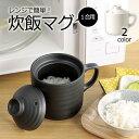 レンジ で 簡単 炊飯 マグ 1合用 電子レンジ 対応 陶器製 おひつ レシピ付