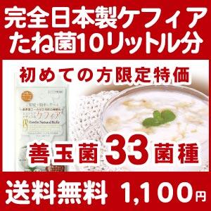 初めての方限定超特価 10包/10リットル分 送料無料 完全日本製 エステリアナチュラルケフィア スーパーヨーグルトたね菌 ケフィアグレイン 乳酸菌 酵母 善玉菌 ケフィアヨーグルト
