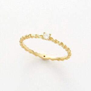 【送料無料】K18イエローゴールドダイヤモンドリング【4月誕生石】18金18k一粒シンプルダイヤプリンセスカット指輪ギフトプレゼント女性大人レディース