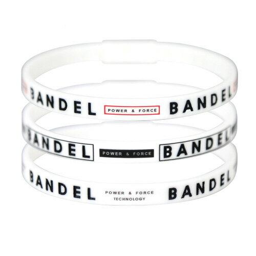健康アクセサリー, その他  3 White BANDEL Line Bracelet 3 piece set