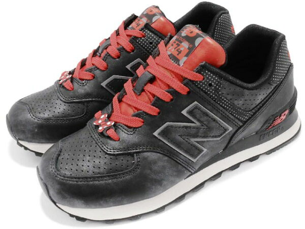 NEWBALANCEWL574DMMニューバランスWL574DMMレディースランニングシューズBlack/Redブラック/レッド
