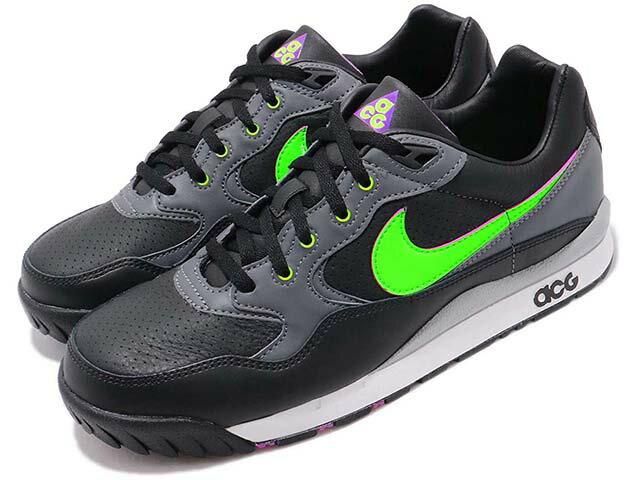 メンズ靴, スニーカー NIKE AIR WILDWOOD ACG ACG BLACKELECTRIC GREEN-HYPER VIOLET19-06-334