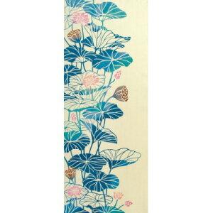【絵手ぬぐい 蓮花-はちすばな-】【注染】【気音間-kenema-】夏柄てぬぐい 手拭い ケネマ
