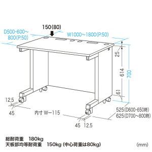 eデスク(Wタイプ・W1200×D800mm)
