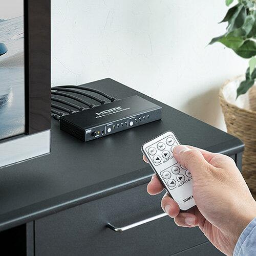 HDMIマトリックスセレクター切り替え分配器4入力2出力リモコン付EDID保持400-SW026