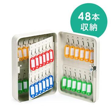 キーボックス(鍵収納ケース・カギ・48個収納・鍵付き・壁固定・タグ付き・キーキャビネット) EZ2-SL060