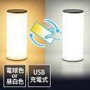 LEDライト(ランタン・6段階調整・充電式・タッチパネル・昼白色・電球色・リバーシブル) EZ8-LED025
