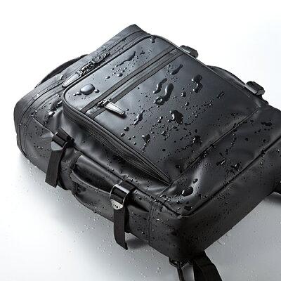 ビジネスリュック(耐水素材・止水ファスナー・大容量・ノートPC収納対応・スクエアリュック)