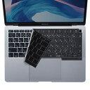 【訳あり 在庫処分】MacBook Air 13.3インチ Retinaディスプレイ用キーボードカバー シリコン 極薄 ブラック FA-SMACBA13RBK サンワサプライ