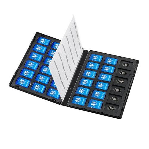 【訳あり 新品】メモリーカード管理ケース DVDトールケース型、SDカード、microSDカード用 FC-MMC25SDM サンワサプライ ※箱にキズ、汚れあり