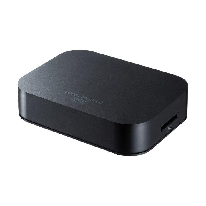 【訳あり 新品】メディアプレーヤー USBメモリ SDカード HDMI接続 VGA接続 コンポジット接続 コンポーネント接続 ブラック MED-PL1 サンワサプライ ※箱にキズ、汚れあり