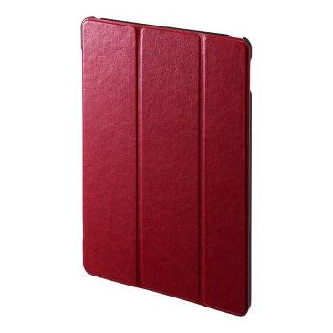 【訳あり 新品】iPad ケース 第7世代 10.2インチ用 ソフトレザー ポリウレタン スタンドタイプ レッド PDA-IPAD1607R サンワサプライ ※箱にキズ、汚れあり【ネコポス対応】