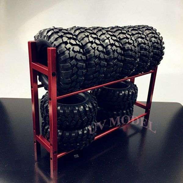 タイヤラック1/10ホイールリム用RCトラック用タイヤラックRC4WDSCX10D90CC01F350赤
