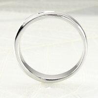 メンズリング地金ツイストK18ホワイトゴールドK18WGマリッジリング指輪結婚指輪【送料無料】