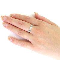 ダイヤモンドブラックダイヤモンドリングダイヤリングアンティークミル打ちフラワー花透かしパヴェK18ホワイトゴールドK18WG指輪0.30ct【送料無料】
