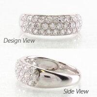 パヴェゴージャス1.00ctダイヤモンドリングダイヤリング指輪18金K18ホワイトゴールドK18WG【送料無料】