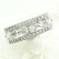透かしゴージャスダイヤモンドリングダイヤリング指輪18金K18ホワイトゴールドK18WG0.80ct【送料無料】05P19Mar14