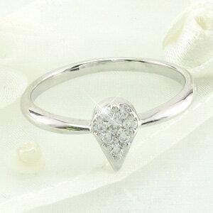 ダイヤモンド リング 指輪 レディース ドロップ 露 つゆ 雫 しずくペアシェイプ ミステリー k18 18k 18金 ゴールド 0.1カラット