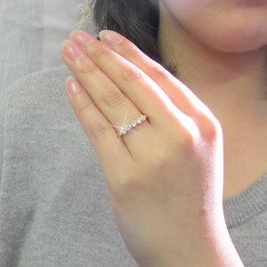 ダイヤモンド エタニティリング レディース ダイヤ 指輪 ハーフエタニティ ヌーディー ゴールド k18 18k 18金 0.5カラット
