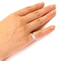 フラワー花アンティークミル打ち透かしパヴェダイヤモンドリングダイヤリング指輪18金K18ピンクゴールドK18PG【送料無料】