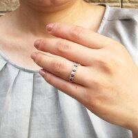 ダイヤモンドブラックダイヤモンドリングダイヤリングアンティークミル打ちフラワー花透かしパヴェK18ピンクゴールドK18PG指輪0.30ct【送料無料】