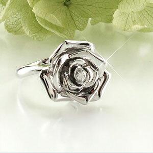 【優勝記念】【ポイント5倍】リング プラチナ ダイヤモンド 指輪 レディース バラ 薔薇 ローズ フラワー 花 プラチナ