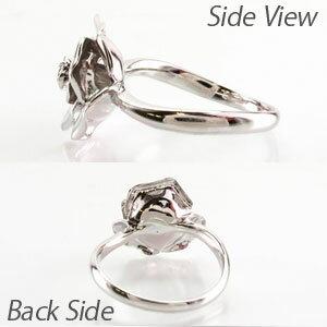 リング プラチナ ダイヤモンド 指輪 レディース バラ 薔薇 ローズ フラワー 花 プラチナ
