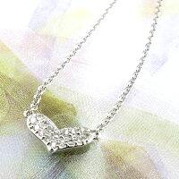 ハートプチダイヤモンドペンダントダイヤペンダント0.10ctpt900プラチナ900【送料無料】