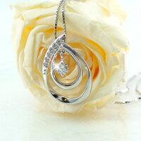 ダイヤモンドネックレスペンダント揺れるブラスイングオーバルダイヤペンダントプラチナ900pt9000.15ct【送料無料】
