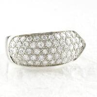 パヴェゴージャスリングダイヤモンドリングダイヤリングK18WGホワイトゴールド1.00ct指輪【送料無料】