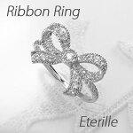 リボンダイヤモンドリングダイヤリングK18WGホワイトゴールド指輪【送料無料】