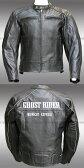 【Clooney】GHOST RIDER 本革 カウハイド レザージャケット 【牛革】メンズ 革ジャン ゴーストライダー ライダース シングル 皮ジャン