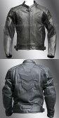 【Clooney】MJ05 本革 パンチング レザージャケット 牛革 メッシュ ライダース メンズ シングル 革ジャケット バイク 皮ジャン アウター ブルゾン 黒 ブラック
