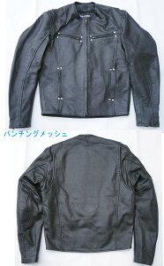 牛革メッシュレザージャケットMJ02