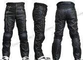 【Clooney】MP02 本革 パンチングレザーパンツ 【牛革】メッシュ 膝カップ入り メンズ