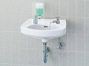 そで付小形洗面器(水栓穴2)床排水セット L-132G/○○+LF-1+KF-24F