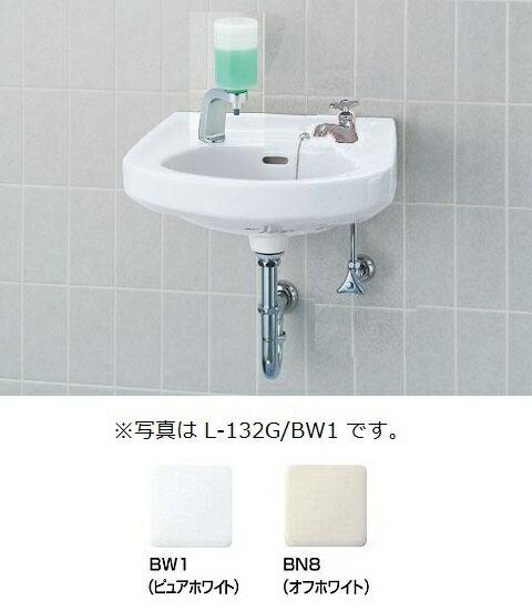 そで付小形洗面器(水栓穴2)壁排水セットL-132G/○○+LF-1+KF-24F