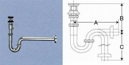 プッシュワンウェイ式排水PトラップLF-91PA