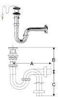 ゴム栓式排水PトラップLF-10PA