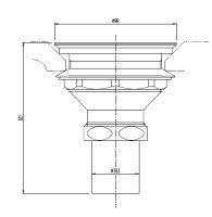INAX流し用排水口(バスケット形)SF-3A