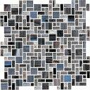 名古屋モザイク newyorker glassニューヨーカーグラス 3形状ミックス紙貼り WZ-T1350P[シート]