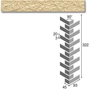 ニッタイ工業株式会社 外装壁タイル フレーバー(接着剤張り工法) FL203/2ARM ボーダー曲り(ユニット)(接着)