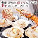 海鮮バーベキューセット 2種10品 送料無料 福袋 赤エビ 5尾&ホタテ 5枚 海鮮セ...
