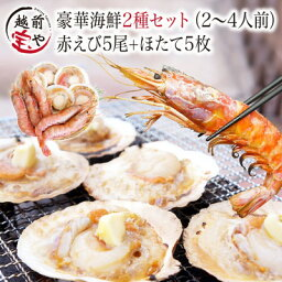 海鮮バーベキューセット 2種10品 送料無料【冷凍】赤エビ 5尾&ホタテ 5枚【あす楽】海鮮バーベキューセット 海鮮BBQセット