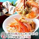 カニ丼 甲羅盛り ズワイガニ 2個 カナダ産 出汁つゆ セッ...