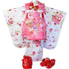 レビュー記入で足袋をプレゼント【直ぐに着れるように肩・腰上げ加工サービス!】三歳被布セッ...